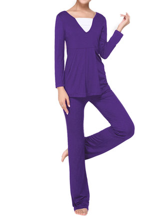 Casual Sport Women Fitness Two-piece Yoga Tracksuit