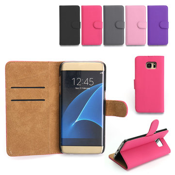 Premium Flip Bracket Card Solt Leather Wallet Case Cover For Samsung Galaxy S7 Edge