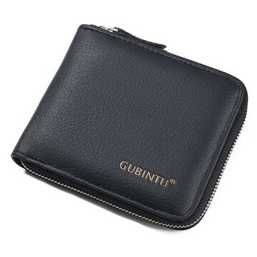 Men Genuine Leather Daily Short Wallet Card Holder Coin Purse