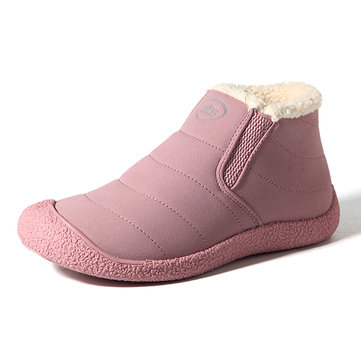Large Size Comfortable Slip On Warm Fur Lining Ankle Boots