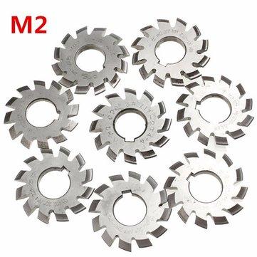 Module 2 Diameter 22mm 20degree #1-8 HSS Involute Gear Milling Cutter