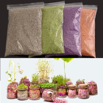 500ml Plant Flowers Micro-landscape Nutrient Soil Colorful Potting Paper Soils Garden Decorations