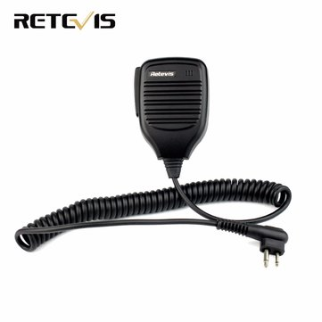 Retevis 2 Pin PTT Speaker Mic Microphone For Motorola GP68/GP88/GP300/2000/CT150/P040/Pro1150 HYT TC-500 Walkie Talkie Ham Radio C9035A