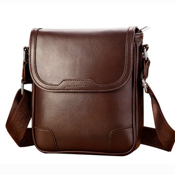 Men's Vintage PU Leather Messenger Bag Shoulder Bag Business Crossbody Bag