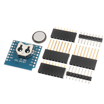 5Pcs Wemos® RTC DS1307 Real Time Clock + Battery Shield For WeMos D1 Mini