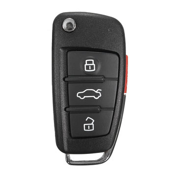 New 3+1 Buttons Remote Key Fob Case Uncut Blade For Audi A6 A4 A2 A8 TT Q7