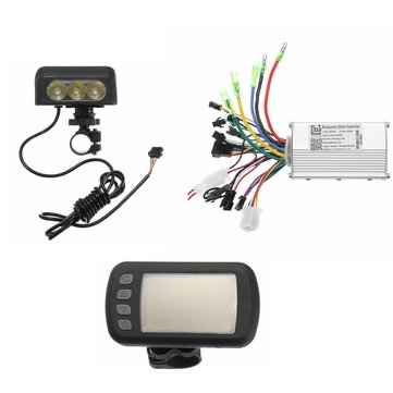 24V36V48V250W350W Motor Brushless Controller Lcd Display Front Light For E-bike Bicycle MTB Model B