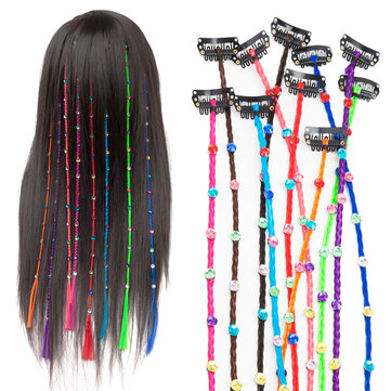 55cm Colourful Diamond Synthetic Fiber Hair Braid Extensions Halloween