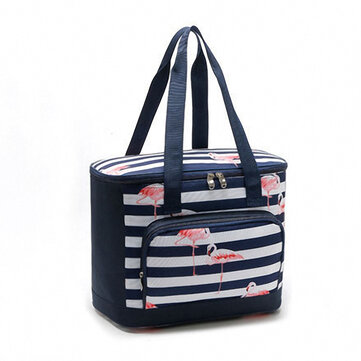Flamingo Lunch Bag Picnic Insulation Ice Bag Cooler Insulated Lunch Bag Aluminum Film Lunch Box Bag Large Capacity Lunch Bag