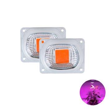 High Power 20W 30W 50W Full-spectrum COB LED Grow Light Chip with Lens for Floodlight AC110V/220V