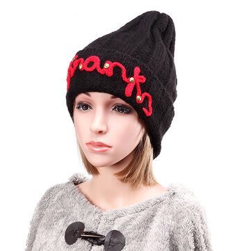 Women Ladies Thicken Knitting Hat Braided Crochet Rivets Winter Warm Ski Beanie Cap