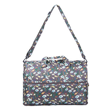 Outdoor Storage Bag Floral Design Portable Travel Shoulder Bag Lady's Handbag Luggage Organizer