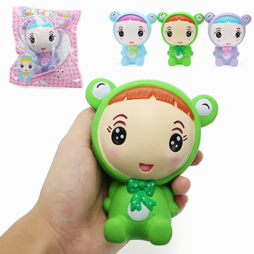 LeiLei Squishy Doll With Frog Costume Slow Rising Original Packaging Collection Gift Decor Soft Toy
