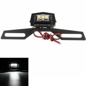 Motorcycle Tail LED Light License Plate Lamp Bracket Mount Holder For Motorcycle Dirt Bike 4x4 ATV