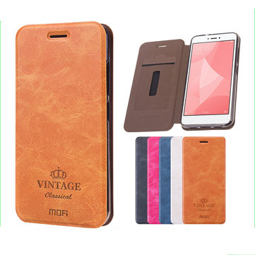 MOFI PU Leather Flip With Stent With Card Slot Protective Case For Xiaomi Redmi 5 Plus