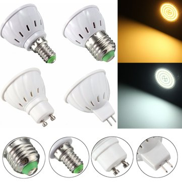 E27 E14 GU10 MR16 3.5W 27 SMD 5730 Non-Dimmable LED Warm White White Spot Lightt Lamp Bulb AC110/220V