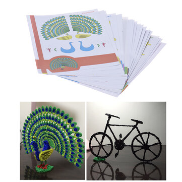 ₹617.8522Pcs/Pack 44 Patterns 3D Printing Pen Double-sided Cartoon Drawing Paper with Transparent Template Copy Graffiti Board for DIY Children Kids3D Printer & SuppliesfromElectronicson banggood.com