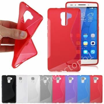 Slim TPU Gel Silicone Soft Back Case Cover For Huawei Honor 7