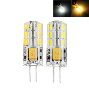 G4 2.5W SMD4014 48LEDs Silicone Pure White Warm White Light Bulb AC/DC12V
