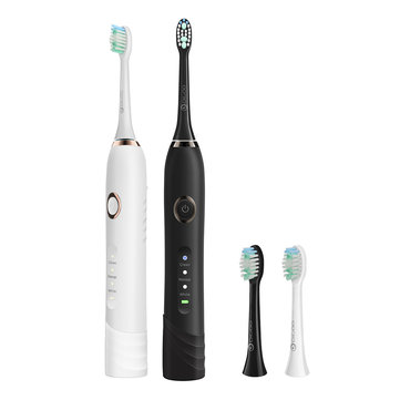 Digoo DG-YS22 3 Brush Modes Essence Sonic Electric Toothbrush Direct USB Rechargeable IPX7 Waterproof With 2 Toothbrush Head