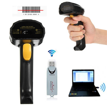 2.4G High Speed Wireless Laser USB Barcode Scanner Scan Label Reader