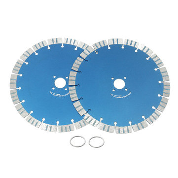 2pcs 230mm Diamond Cutting Blades Discs Concrete Cut Tool for Angle Grinder