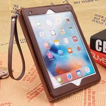 PU Leather Smart Sleep / Wake Up With Wallet Pocket Kickstand voor iPad Air 2