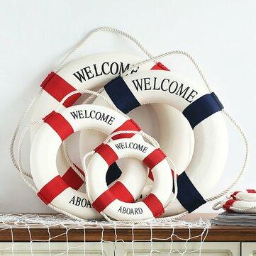지중해 스타일 장식 생활 부표 집 장식에 오신 것을 환영합니다