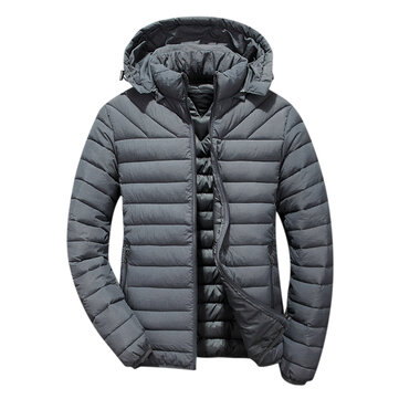 Mens Winter Casual Cotton Down Padded Windproof Jacket
