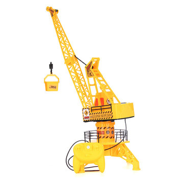 Plastic Mini Tower Crane Remote Control Engineering Vehicle Toy Set Kid Gifts