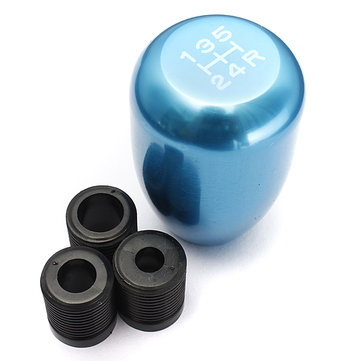Universal Car 5 Speed Lever Manual Gear Shift Lever Knob Blue Color