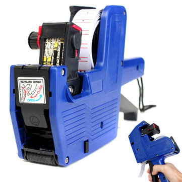MX-5500 8 Digits Price Tag Labeler Supermarket Labeller Label Paper Ink Gun