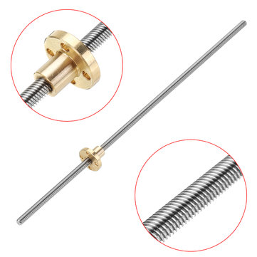 Machifit T6 Lead Screw 300mm Length 6mm Thread 1mm Pitch Lead Screw with Copper Nut