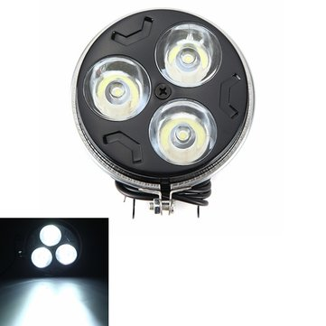 12V 9W Motorcycle Super Bright LED Spot Lightts Headlight Thick Section Three Small Sun Lamp