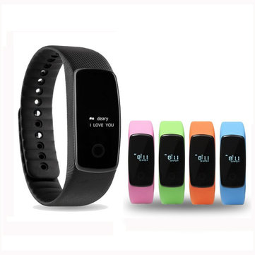 Smart Watch Heart Rate Health Monitor Step Counter Distance Measurement Bracelet pour iPhone Android