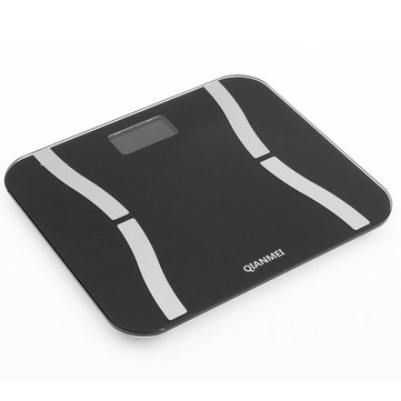 180KG Bluetooth 4.0 LED Digital Smart Weight Scale Body Fat Bone Muscle BMI Calorie Consumption Moisture Content Tester