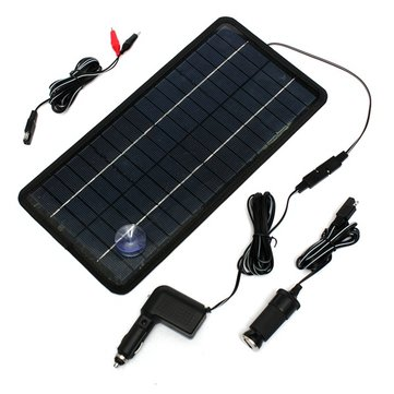 12 Volt 8.5W Solar Panel Battery Charger