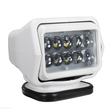 DC12V 50W White Wireless Remote Control LED Search light Spot Light Magnetic Base for Boat Off Road