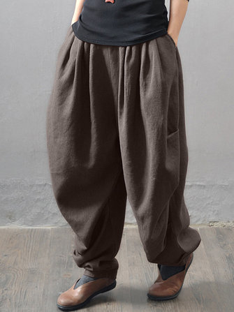 M-5XL Casual Women Loose Harem Pants