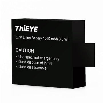 Rechargeable 3.7V Li-ion Battery 1050mAh 3.8Wh for ThiEYE i30 i60 i60E Sport Action Camera