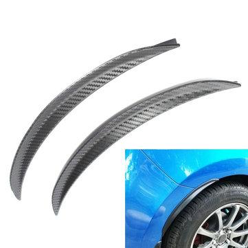 2pcs 32.5cm Car Carbon Fiber Fender Flares Wheel Lip Guard Body Kits