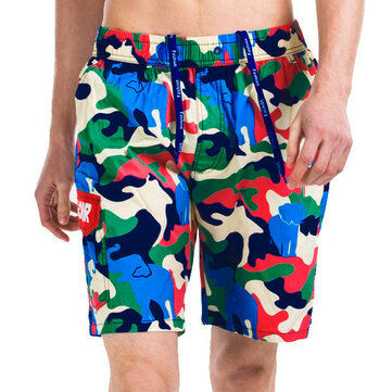 Camouflage Casual Beach Shorts Zomer Mens Snelle Drogen Loose Surf Beach Shorts