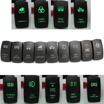 5 Pin 12V 24V Laser LED Light Bar Rocker Toggle Switch Narva ARB Carling Car Boat