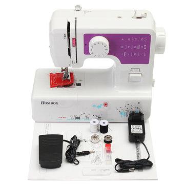 Drillpro DC 9V Portable Electric Multifunction Sewing Machine Seal Ring Machines Heavy Duty EU Plug