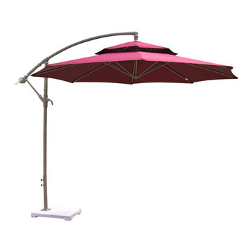 2.7M Outdooors Parasol Umbrella Sunshade Large Hanging Sun Shading Shelter RounD-shape Awning