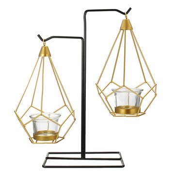 Creative Nordic Style Light Luxury Candle Holder Table Romantic Wedding Decor Crafts Storage