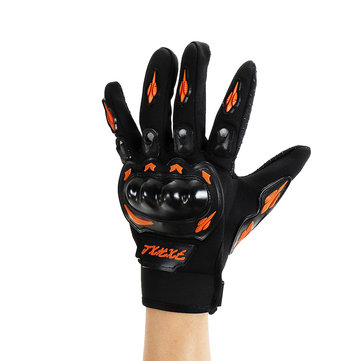 Universal Outdoor Sport Ridinng Full Finger Racing Black Protective Motorcycle Gloves