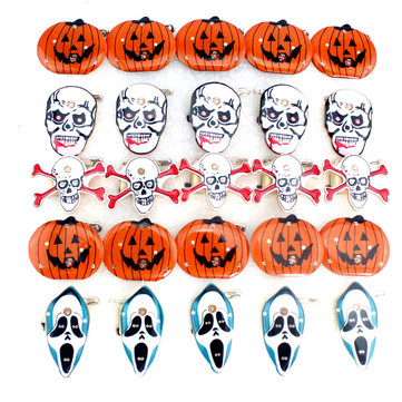 Halloween LED Flashing Light Brooch Pumpkin Toys Party Supplies
