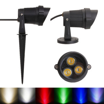 6W LED Flood Spotlightt With Cap For Landscape Garden IP65 DC 12-24V