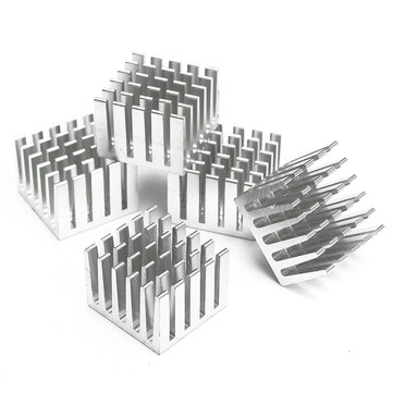 5Pcs 20x20x15mm DIY CPU IC Chip Heat Sink Extruded Cooler Aluminum Heat Sink